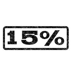 15 percent watermark stamp vector image vector image