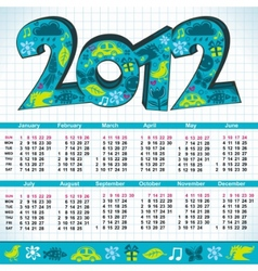 2012 new year calendar vector image