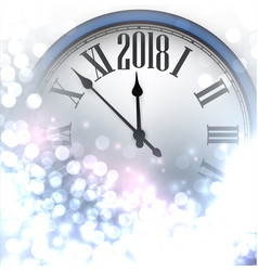 2018 new year luminous background vector image