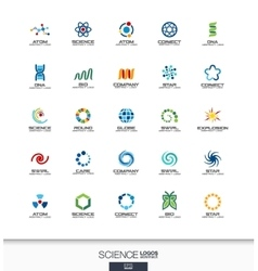 Abstract logo set for business company Science vector