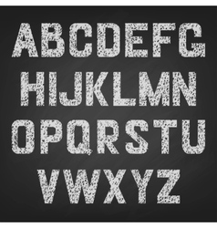 Alphabet of chalked vector
