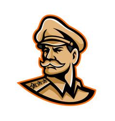 American general mascot vector