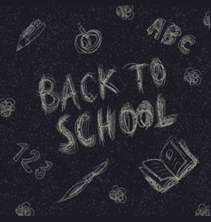 Back to school holiday background childish vector