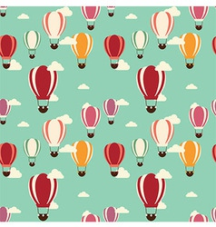 Background with hot air balloons seamless pattern vector image