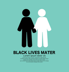 Black symbol white people with people vector