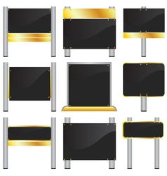 blank signboards vector image