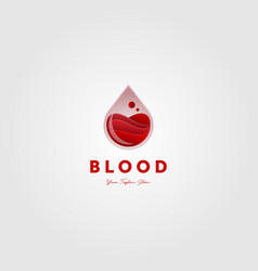 blood liquid water drop check logo icon designs vector image