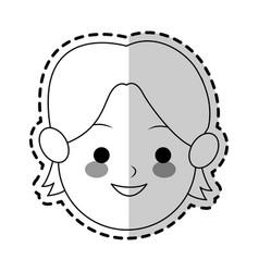 boy cute cartoon icon image vector image