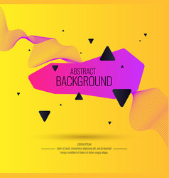 bright abstract background with a dynamic waves vector image