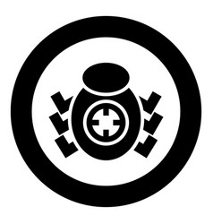 bug beetle in target sight icon black color vector image