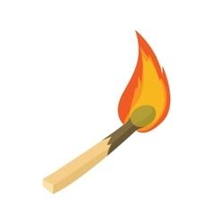 Burning match icon cartoon style vector image