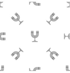 Candles support pattern seamless vector