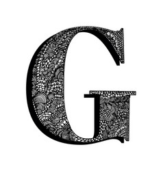 Capital letter g hand drawn letter english vector
