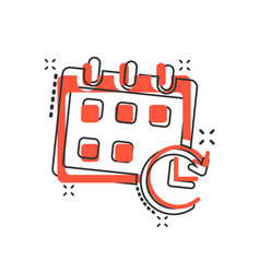 Cartoon calendar icon in comic style reminder vector