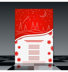 Christmas flyer vector image