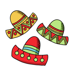cinco de mayo celebration festive hats accessory vector image