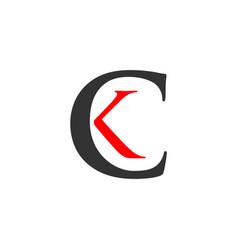 Ck logo template design vector