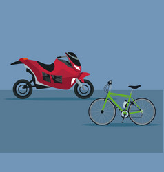 Color background with modern motorcycle and vector
