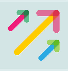 Colorful arrows in trendy flat style with vector