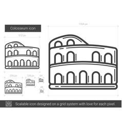 Colosseum line icon vector