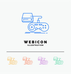 console game gaming playstation play 5 color line vector image
