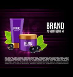 Cosmetic cream ads vector