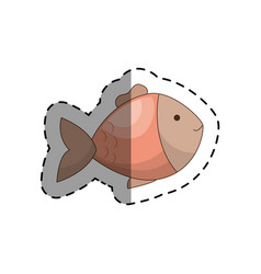 cute fish pet isolated icon vector image