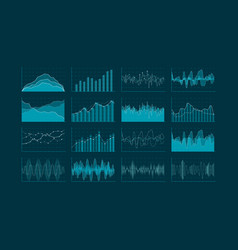 Data analysis visualization set hud and vector