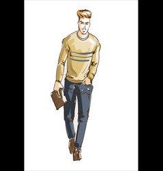 fashion man fashion man with vector image