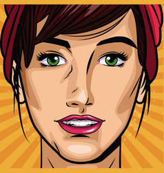 fashion womens pop art cartoon vector image