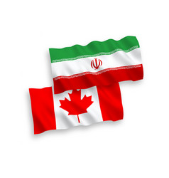 Flags canada and iran on a white background vector