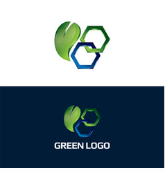 green business icon and logo vector image
