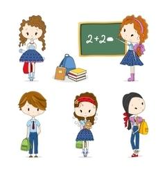 group school children vector image