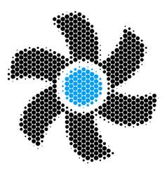 Halftone dot rotor icon vector