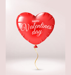 heart balloon valentines day red shape vector image