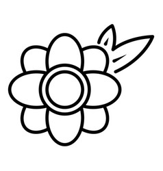 honey flower icon outline style vector image