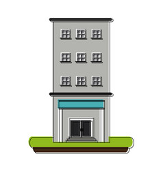 hospital building symbol vector image