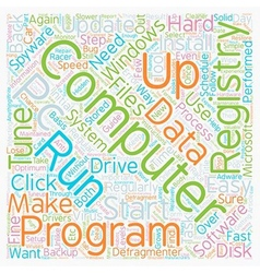 How To Tuneup Your PC text background wordcloud vector image