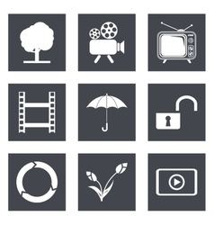 icons for web design set 44 vector image