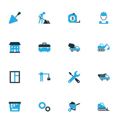 Industry colorful icons set collection of cement vector