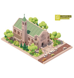 isometric church or cathedral vector image