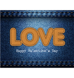 Love Valentine Jeans Background vector image