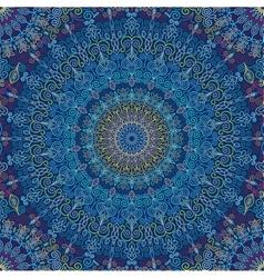 Mandala Pattern Blue vibration vector image