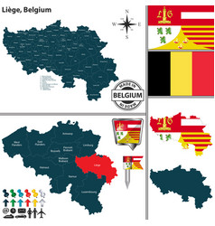 map of liege belgium vector image