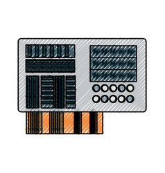 microchip integrated circuit vector image
