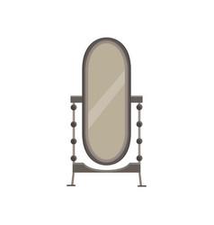 mirror floor interior room background design vector image