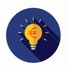 money idea icon euro icon vector image