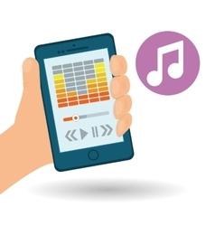 Music design Online concept Media vector image