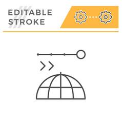 navigation editable stroke line icon vector image