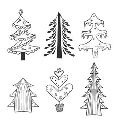 new year tree vector image